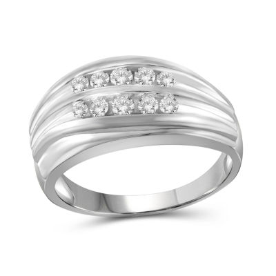 Mens 1/2 CT. T.W. Genuine White Diamond 10K Gold