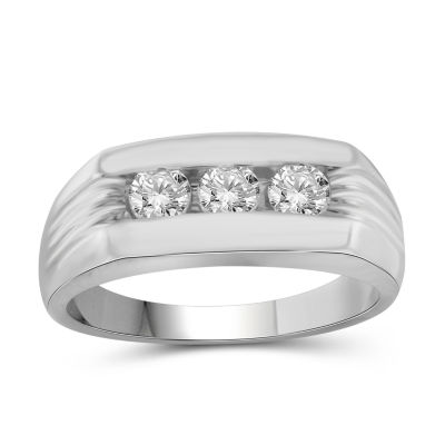 Mens 3/4 CT. T.W. Genuine Round White Diamond 10K