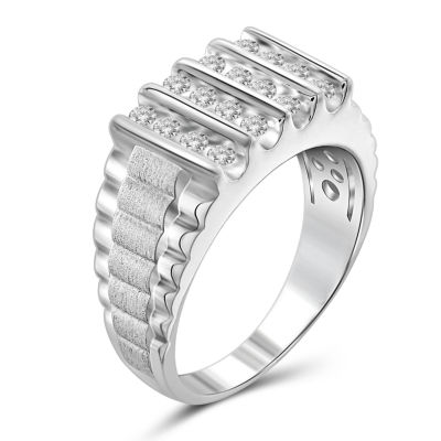 Mens 1 CT. T.W. Genuine Round White Diamond 10K