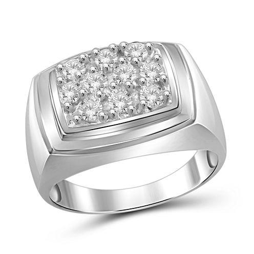 Mens 1 CT. T.W. Genuine Round White Diamond 10K