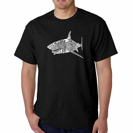 Los Angeles Pop Art Mens Crew Neck Short Sleeve T Shirt Big And Tall