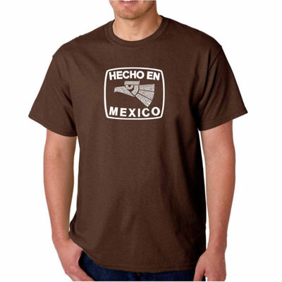 Los Angeles Pop Art Hecho En Mexico Short Sleeve Word Art T-Shirt - Big and Tall
