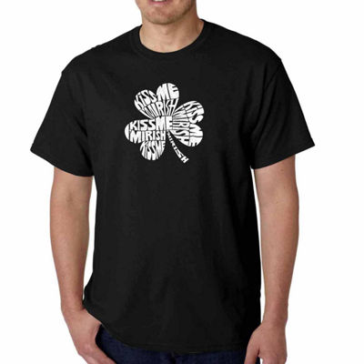 Los Angeles Pop Art Kiss Me I'm Irish Short SleeveWord Art T-Shirt - Big and Tall