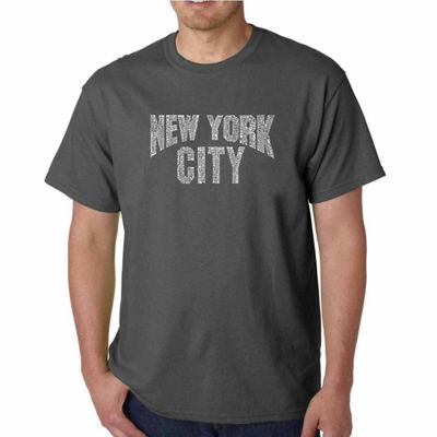 Los Angeles Pop Art NYC Neighborhoods Short SleeveWord Art T-Shirt - Big and Tall