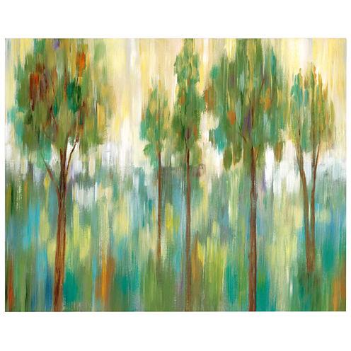 Green Trees II Canvas Wall Art