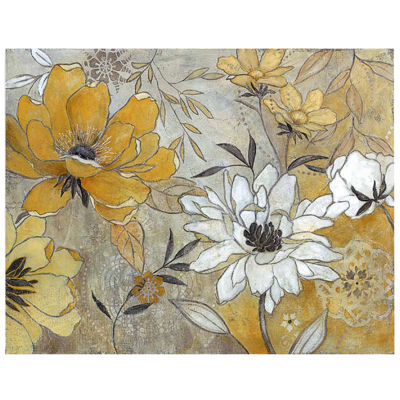 Glistening Petals Canvas Wall Art