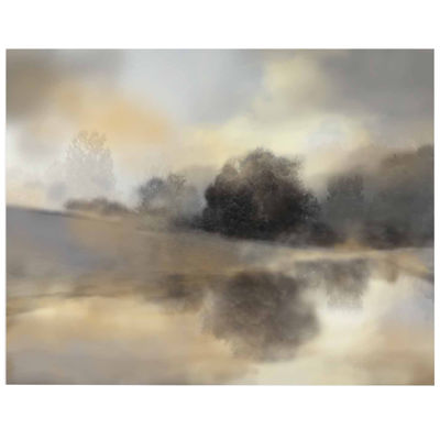 Tranquil Trees & Golden Pond II Canvas Wall Art
