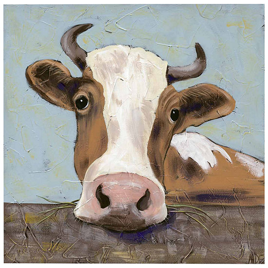 Steere Over The Fence Canvas Wall Art
