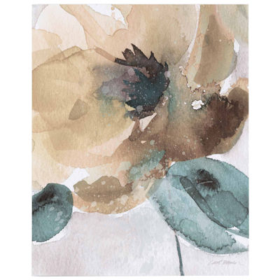 Watercolor Flower Bloom II  Canvas Wall Art