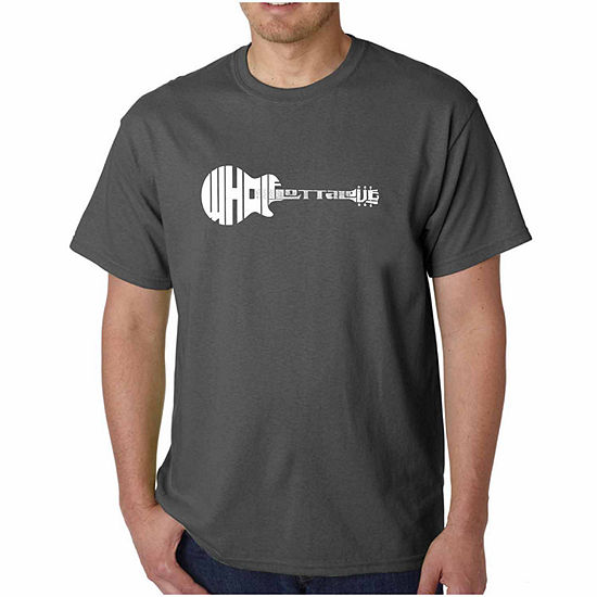 Los Angeles Pop Art Whole Lotta Love Short SleeveWord Art T-Shirt-Men's Big and Tall