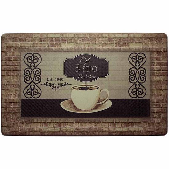 Chef Gear Cafe Bistro With Border Anti Fatigue Gelness Comfort Kitchen Mat