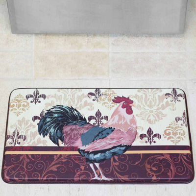 Chef Gear Imperial Rooster Faux-Leather Anti-Fatigue Cushioned Kitchen Mat