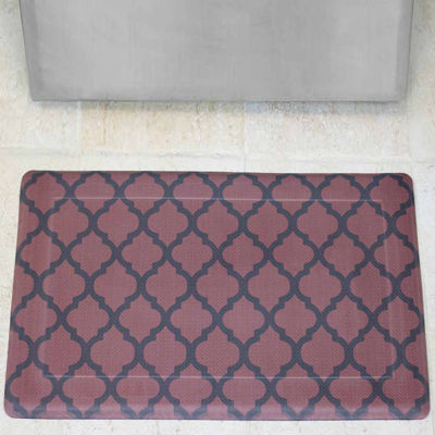 Chef Gear Quatrefoil Anti-Fatigue Gelness Comfort Kitchen Mat