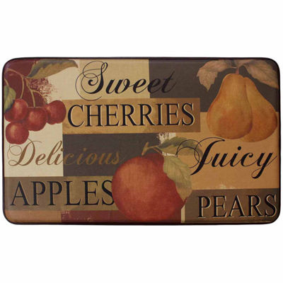 Chef Gear Scrumptious Fruit Faux-Leather Anti-Fatigue Cushioned Kitchen Mat