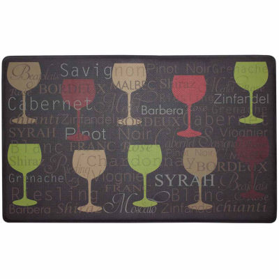 Chef Gear Wine Typography Anti-Fatigue Gelness Comfort Kitchen Mat