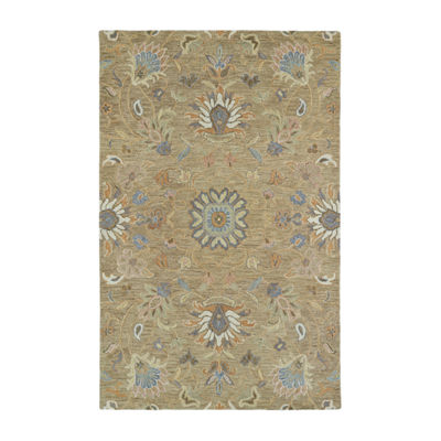 Kaleen Helena Meadow Vine Hand-Tufted Wool Rectangular Rug