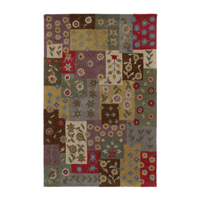 Kaleen Khazana Patchwork Hand-Tufted Wool Rectangular Rug