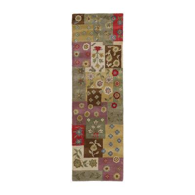 Kaleen Khazana Patch work Hand-Tufted Wool Rectangular Rug