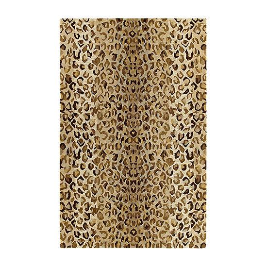 Kaleen Khazana Animal Print Hand Tufted Wool Rectangular Rug