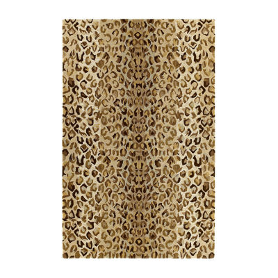 Kaleen Khazana Animal Print Hand-Tufted Wool Rectangular Rug