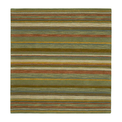 Kaleen Tara Square Twilight Hand-Tufted Wool Square Rug