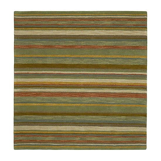Kaleen Tara Square Twilight Hand-Tufted Wool Square Rug