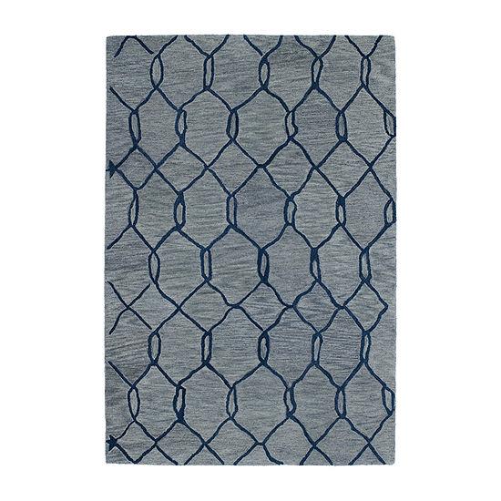 Kaleen Casablanca Trellis Hand-Tufted Wool Rectangular Rug