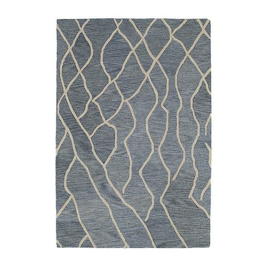 Kaleen Casablanca Lines Hand-Tufted Wool Rectangular Rug