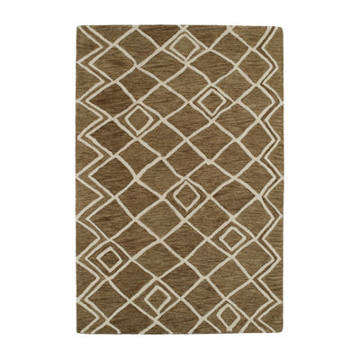 Kaleen Casablanca Diamonds Hand-Tufted Wool Rectangular Rug