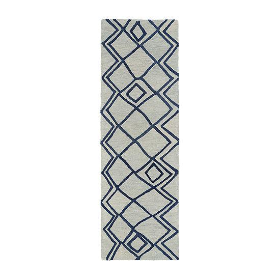 Kaleen Casablanca Diamonds Hand-Tufted Wool Rectangular Rug