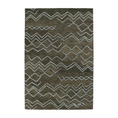 Kaleen Casablanca Chevron Hand-Tufted Wool Rectangular Rug