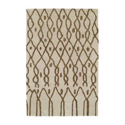 Kaleen Casablanca Chain Hand-Tufted Wool Rectangular Rug