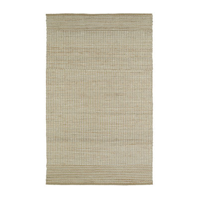 Kaleen Colinas Two-Tone Reversible Wool Jute Rectangular Rug