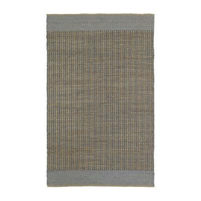 Kaleen Colinas Border Reversible Wool Jute Rectangular Rug