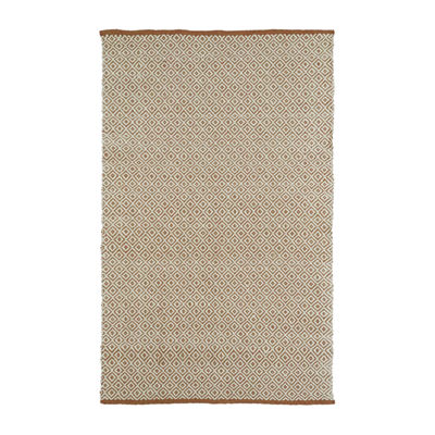 Kaleen Colinas Diamonds Reversible Wool Jute Rectangular Rug