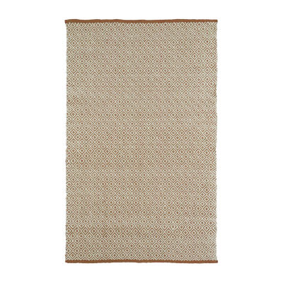 Kaleen Colinas Diamonds Reversible Wool Jute Rectangular Rug