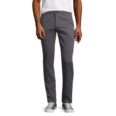 Arizona Mens Skinny Fit Flat Front Pant