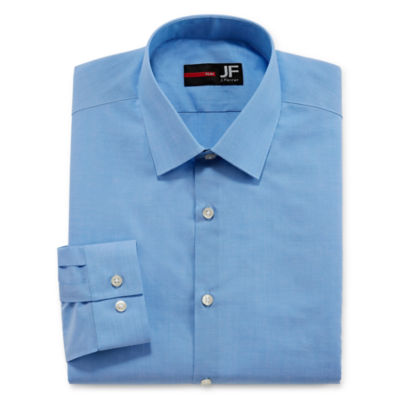 JF J.Ferrar Easy-Care Solid Big and Tall Long Sleeve Broadcloth Dress Shirt