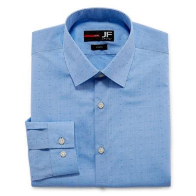 JF J.Ferrar Easy-Care Stretch Solid Long-Sleeve Broadcloth Dress Shirt - Slim