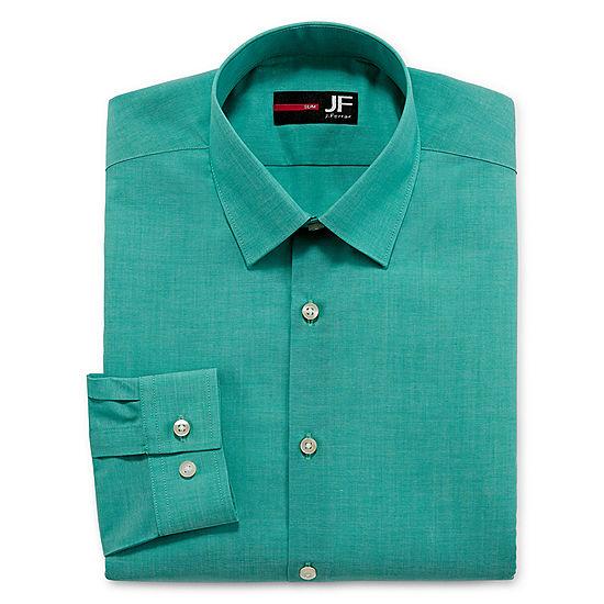 810cacb947044 JF J.Ferrar Easy-Care Solid Long Sleeve Dress Shirt - Slim - JCPenney