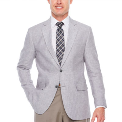 Stafford Linen Cotton Classic Fit Sport Coat