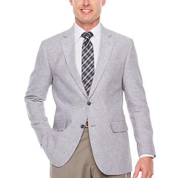 Stafford Linen Cotton Classic Fit Sport Coat (Multiple Colors)