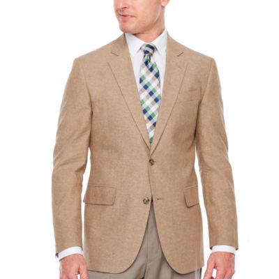 Stafford Linen Cotton Classic Fit Sport Coat