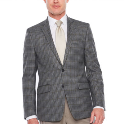 Van Heusen Slim Fit Woven Grid Sport Coat