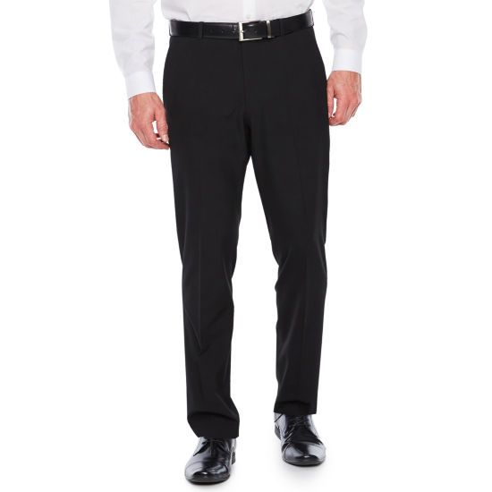 JF J.Ferrar 3 Button Crop Super Slim Flat Front Tuxedo Pants