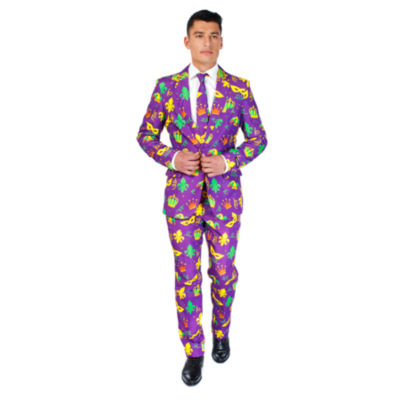 Suitmeister Purple Mardi Gras 3-pc. Suit Set