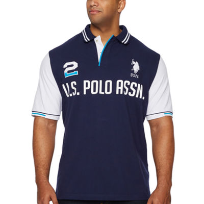 U.S. Polo Assn. Embroidered Short Sleeve Knit Polo Shirt Big and Tall