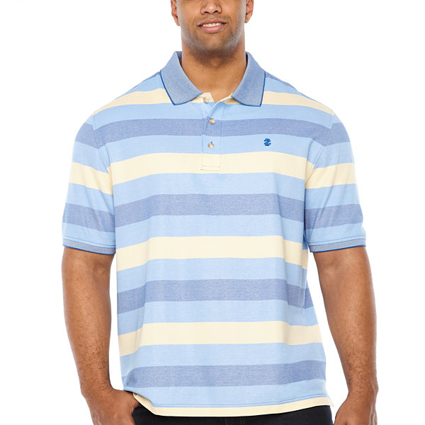 IZOD Short Sleeve Natural Stretch Striped Polo Shirt Big and Tall