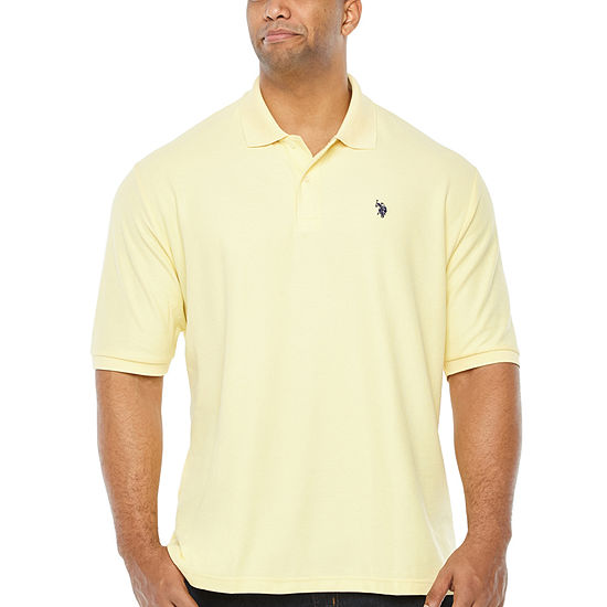 U.S. Polo Assn. Mens Y Neck Short Sleeve Polo Shirt Big and Tall