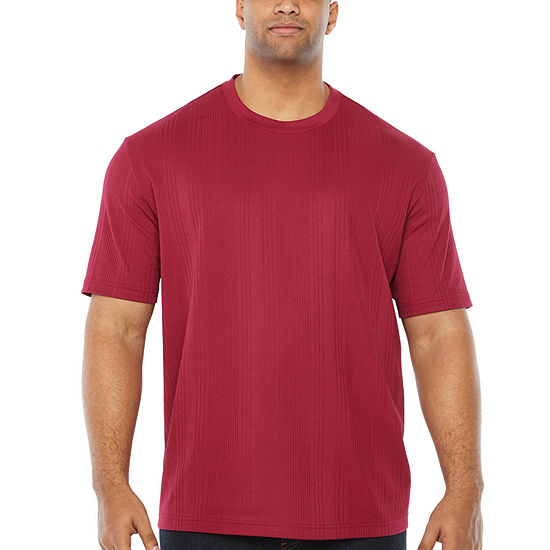 Claiborne Mens Crew Neck Short Sleeve Moisture Wicking T-Shirt-Big and Tall